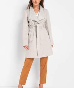 Palton cu adaos de lână - Bej