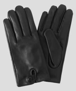 Mănuși de piele - Negru