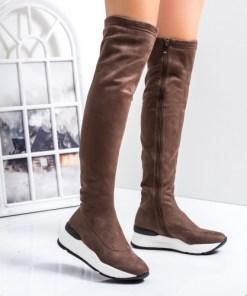 Cizme lungi peste genunchi khaki Taylori