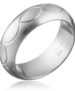 Bijuterii eshop - Inel argint 925 - contururi de boburi gravate H11.11 - Marime inel: 50