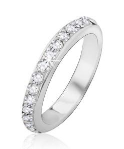 Bijuterii eshop - Inel argint 925 încrustat cu strasuri transparente J12.10 - Marime inel: 48