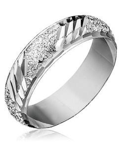 Bijuterii eshop - Inel argint 925 - motel tip nisip, crest?turi înclinate H15.12 - Marime inel: 49