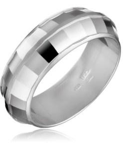 Bijuterii eshop - Inel argint - DISCO, mici patrate stralucitoare H14.20 - Marime inel: 50