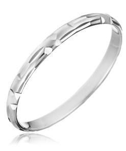 Bijuterii eshop - Inel argint - gravuri tip bob în forma literei L H10.16 - Marime inel: 50