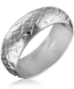 Bijuterii eshop - Inel argint lucios - mici stele gravate H13.13 - Marime inel: 50