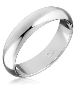 Bijuterii eshop - Inel argint - neted, usor rosunjit H15.11 - Marime inel: 49