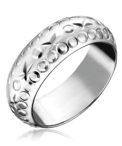 Bijuterii eshop - Inel argint - stele si cercuri gravate H13.11 - Marime inel: 49