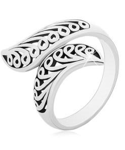 Bijuterii eshop - Inel din argint 925, brate gravate patinate cu linii curbate M14.11 - Marime inel: 50