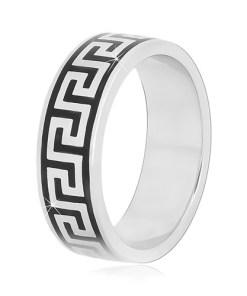 Bijuterii eshop - Inel din argint 925 cu cheie greceasc?, 6 mm M17.03 - Marime inel: 56