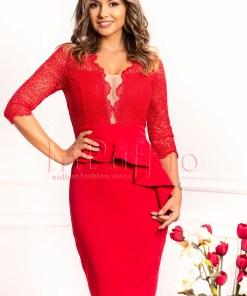 Rochie eleganta rosie
