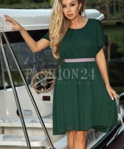 Rochie Helena eleganta in nuante de verde