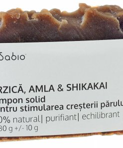 Sampon solid pentru stimularea cresterii parului cu Urzica, Amla si Shikakai, 130 g