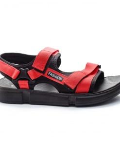 Sandale Dotraki rosii cu negru -rl