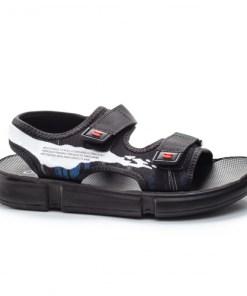 Sandale Mugazi negre cu alb -rl