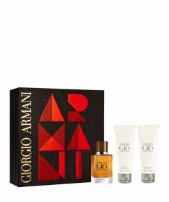 Set cadou Acqua di Gio Absolu (Apa de parfum 40 ml + Gel de dus 75 ml + Aftershave balsam 75 ml), pentru barbati