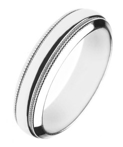 Bijuterii eshop - Verigheta argint lucios - doua dungi gravate H14.14 - Marime inel: 49
