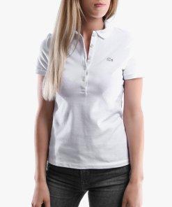 Lacoste Kadin Slim Fit Beyaz Polo PF7845 001
