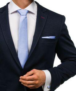 Set pentru bărbat cravată, butoni, batistă violet-deschis Bolf KSP01