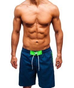 Pantaloni scurți de baie bărbați bleumarin Bolf 306