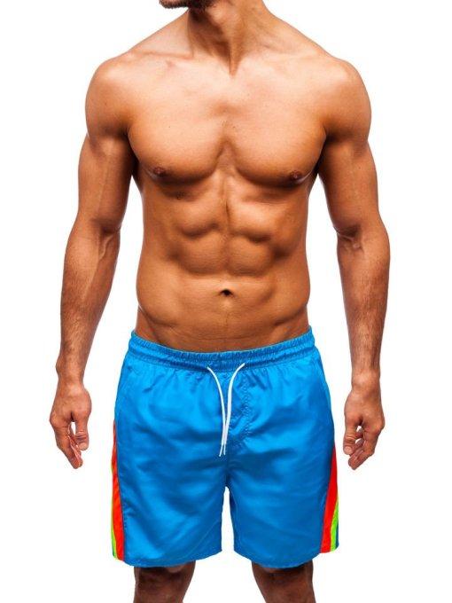 Pantaloni scurți de baie bărbați albastru-deschis Bolf 315
