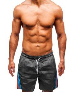 Pantaloni scurți de baie bărbați grafit Bolf 315
