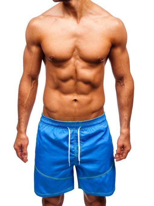 Pantaloni scurți de baie bărbați albastru-deschis Bolf 348