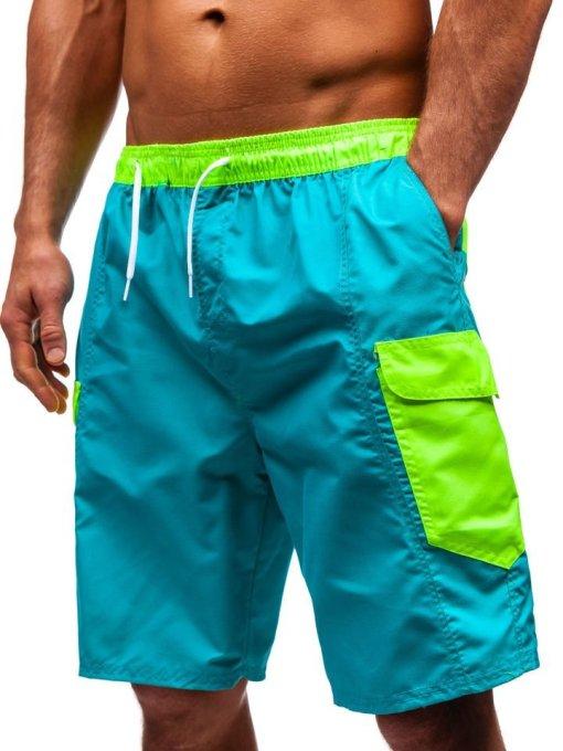 Pantaloni scurți de baie bărbați verziBolf 352