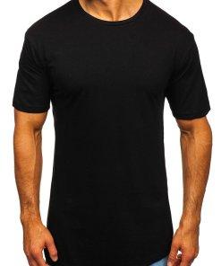 Tricou lung bărbați negru Bolf 14290