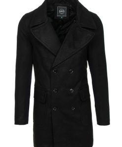 Palton de iarnă negru Bolf 1048B