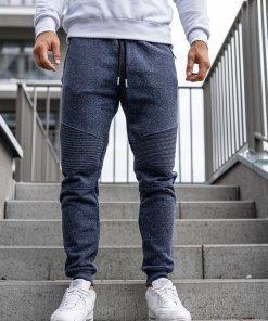 Pantaloni de trening joggers bărbați bleumarin Q3770