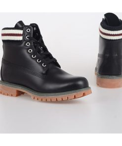 Timberland MARNI Leather Combat Boots BLACK