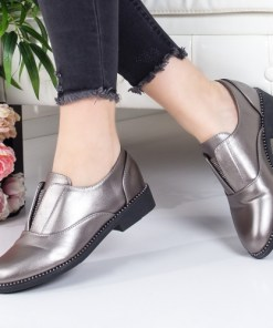 Pantofi Lalaine argintii casual -rl