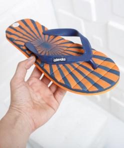 Papuci Azimi bleumarini cu portocaliu