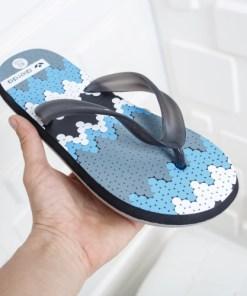 Papuci Grinfo negri cu albastru