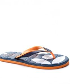 Papuci Muhili bleumarini cu portocaliu