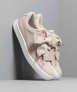 Puma Basket Heart Woven Rose Wn s Silver Gray-Puma White