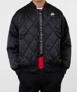 Nike Sportswear Air Syn Fill Satin Jacket Black/ Black/ White
