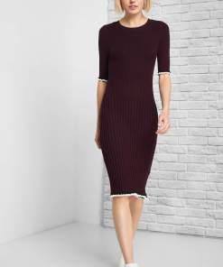 Rochie de tricot midi