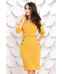 Rochie Georgiana Yellow