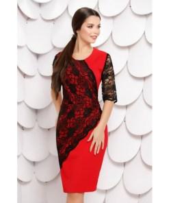 Rochie Pilar Red Black