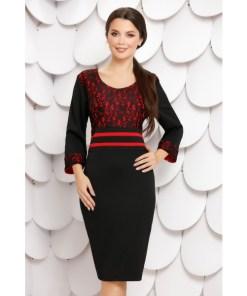 Rochie Alda Black Red