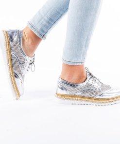 Pantofi dama Prudence argintii