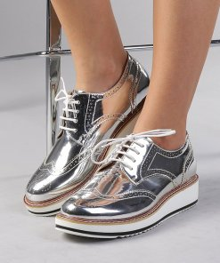 Pantofi dama Ambra argintii