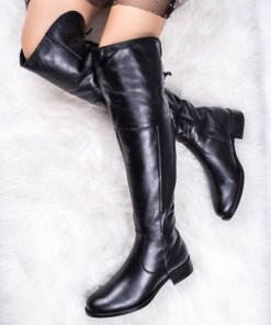 Cizme dama peste genunchi negre Najolia-rl