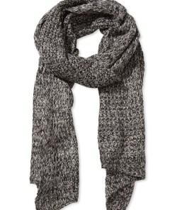 Fular gri tricotat