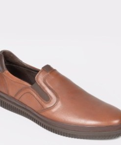 Pantofi OTTER maro, M5309, din piele naturala