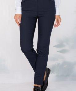 Pantaloni Ana tip pana bleumarin