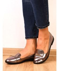 Pantofi Dama Casual Cu Aplicatie Metalica Yourself Argintii