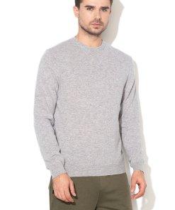 Pulover tricotat fin din lana Merinos