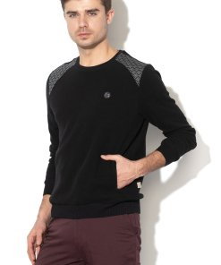 Pulover din tricot fin - cu buzunare pe partea din fata Builder